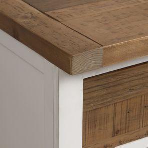 Casserolier 3 tiroirs en bois recyclé blanc - Rivages - Visuel n°19