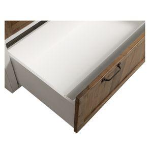 Casserolier 3 tiroirs en bois recyclé blanc - Rivages - Visuel n°20