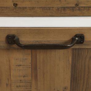 Casserolier 3 tiroirs en bois recyclé blanc - Rivages - Visuel n°21