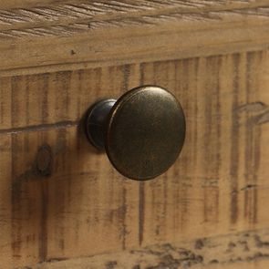Casserolier 3 tiroirs en bois recyclé blanc - Rivages - Visuel n°22