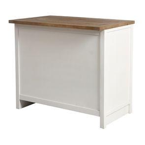 Casserolier 3 tiroirs en bois recyclé blanc - Rivages - Visuel n°15