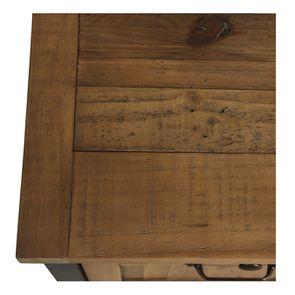 Casserolier 3 tiroirs en bois recyclé bleu navy - Rivages - Visuel n°9