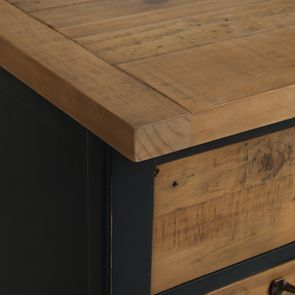 Casserolier 3 tiroirs en bois recyclé bleu navy - Rivages - Visuel n°10