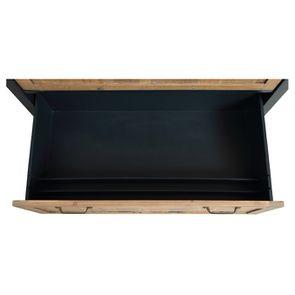 Casserolier 3 tiroirs en bois recyclé bleu navy - Rivages - Visuel n°11