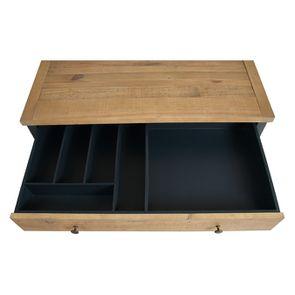 Casserolier 3 tiroirs en bois recyclé bleu navy - Rivages - Visuel n°12