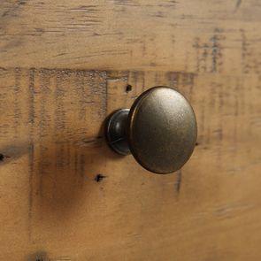 Casserolier 3 tiroirs en bois recyclé bleu navy - Rivages - Visuel n°13