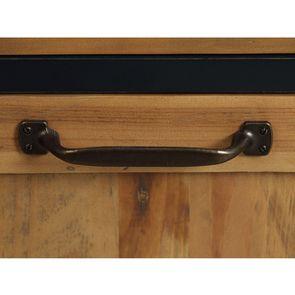 Casserolier 3 tiroirs en bois recyclé bleu navy - Rivages - Visuel n°14