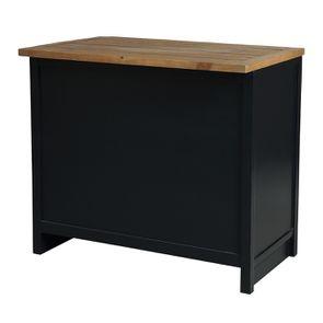 Casserolier 3 tiroirs en bois recyclé bleu navy - Rivages - Visuel n°6