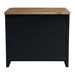 Casserolier 3 tiroirs en bois recyclé bleu navy - Rivages - Visuel n°7
