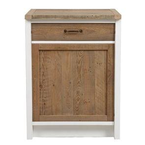 Meuble bas pour lave-vaisselle en bois recyclé blanc - Rivages