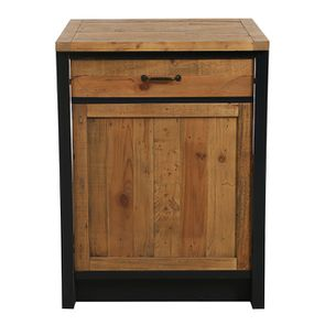 Meuble bas pour lave-vaisselle en bois recyclé bleu navy - Rivages
