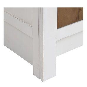 Meuble bas de cuisine pour four et plaque en bois recyclé blanc - Rivages - Visuel n°16