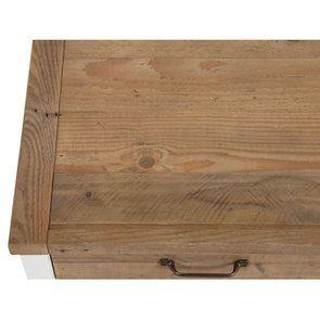 Meuble de cuisine bas 2 portes 2 tiroirs en bois recyclé blanc - Rivages - Visuel n°16