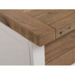Meuble de cuisine bas 2 portes 2 tiroirs en bois recyclé blanc - Rivages - Visuel n°17