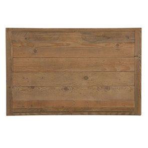 Meuble de cuisine bas 2 portes 2 tiroirs en bois recyclé blanc - Rivages - Visuel n°14