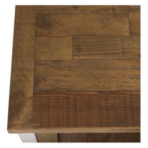 Meuble de cuisine bas d'angle en bois recyclé blanc - Rivages - Visuel n°9