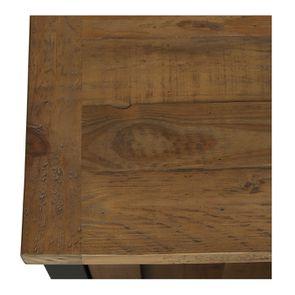 Meuble de cuisine bas d'angle en bois recyclé bleu navy - Rivages - Visuel n°10