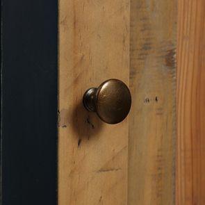 Meuble de cuisine bas d'angle en bois recyclé bleu navy - Rivages - Visuel n°12