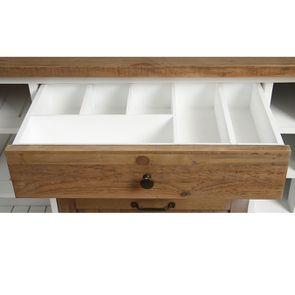 Îlot central en bois recyclé blanc - Rivages - Visuel n°34