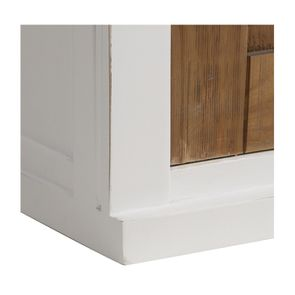 Meuble de cuisine haut 2 portes en bois recyclé blanc - Rivages - Visuel n°11
