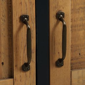 Meuble de cuisine haut 2 portes en bois recyclé bleu navy - Rivages - Visuel n°12