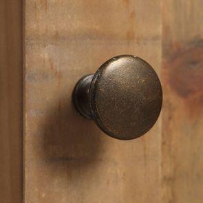Meuble de cuisine haut d'angle 2 portes vitrées en bois recyclé blanc - Rivages - Visuel n°11