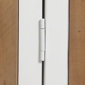 Meuble de cuisine haut d'angle 2 portes vitrées en bois recyclé blanc - Rivages - Visuel n°14