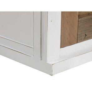 Meuble de cuisine haut d'angle 2 portes en bois recyclé blanc - Rivages
