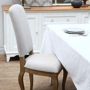 Chaise en frêne massif et tissu beige - Romy - Visuel n°2