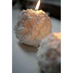 Bougies boules de neige (lot de 2)