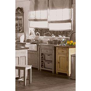 Buffet bas de cuisine 1 porte en pin massif - Brocante - Visuel n°3