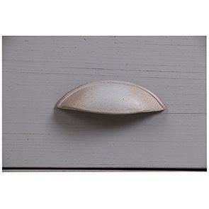 Buffet bas 2 portes 2 tiroirs en pin gris perle vieilli - Brocante - Visuel n°3
