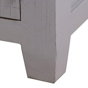 Buffet bas 2 portes 2 tiroirs en pin gris perle vieilli - Brocante - Visuel n°6