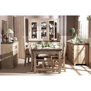 Haut de buffet vaisselier 3 portes vitrées en pin - Brocante - Visuel n°3