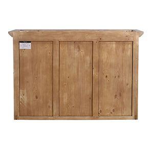 Haut de buffet vaisselier 3 portes vitrées en pin gris perle vieilli - Brocante - Visuel n°8