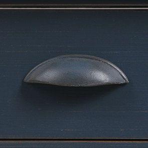 Desserte roulante 1 tiroir en pin massif bleu - Brocante - Visuel n°9