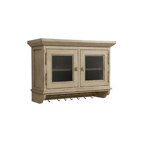 Meuble haut de cuisine portes vitrées en pin - Brocante - Visuel n°3