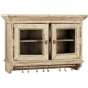 Meuble haut de cuisine portes vitrées en pin - Brocante - Visuel n°2