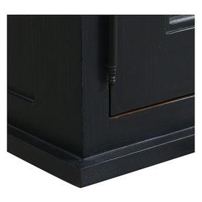 Meuble de cuisine haut vitré 3 modules en pin noir graphite - Brocante - Visuel n°9