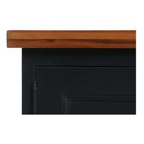 Meuble de cuisine haut vitré 3 modules en pin noir graphite - Brocante - Visuel n°10