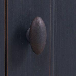 Buffet bas de cuisine 3 portes en pin bleu grisé vieilli - Brocante - Visuel n°9