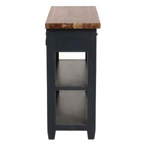 Console noire 2 tiroirs en pin massif - Brocante - Visuel n°6