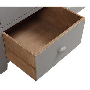 Meuble de cuisine pour évier en pin gris perle - Brocante - Visuel n°12