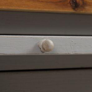 Meuble de cuisine pour évier en pin gris perle - Brocante - Visuel n°16