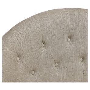 Banquette 2 places en tissu mastic grisé et hévéa massif - Clarence - Visuel n°8