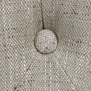 Banquette 2 places en tissu mastic grisé et hévéa massif - Clarence - Visuel n°10
