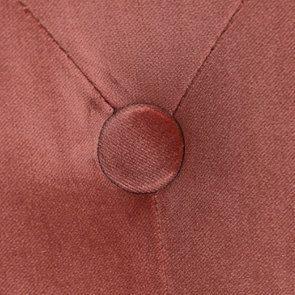 Banquette 2 places en velours rose - Clarence - Visuel n°10