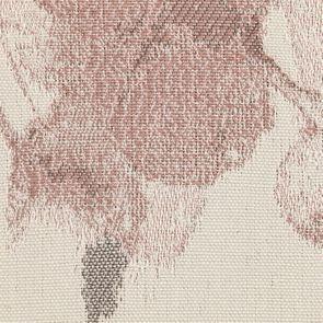 Chaise en hévéa massif et tissu fleurs opaline - Romy - Visuel n°7