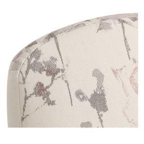 Chaise en hévéa massif et tissu fleurs opaline - Romy - Visuel n°8