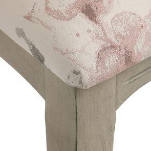 Chaise en hévéa massif et tissu fleurs opaline - Romy - Visuel n°9